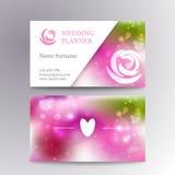 Vector creative feminine business card template Stock Photography
