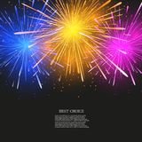 Vector creative fireworks modern background. Eps 10 Stock Images