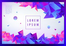 Vector creative geometric wallpaper, facet banner, futuristic cover, web page concept, book design, poster, flyer royalty free illustration