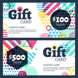 Vector creative gift voucher or card background template. Abstra Stock Images