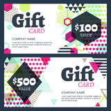Vector creative gift voucher or card background template Stock Photo