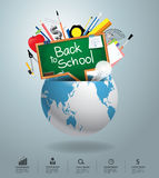 Vector creative global education concept Royalty Free Stock Photo