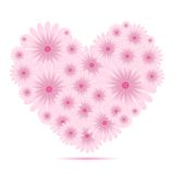 Vector creative heart of flowers Royalty Free Stock Photography