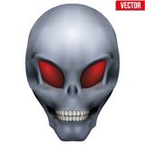 Vector Creative Humanoid alien skull Stock Photography