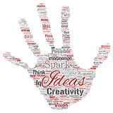 Vector creative idea brainstorming human hand print Stock Image