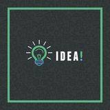 Vector creative idea concept in flat style Royalty Free Stock Photos