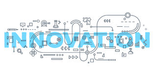 Vector creative illustration of innovation word lettering typogr Stock Photography