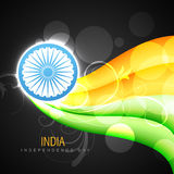 Vector creative indian flag Stock Photography