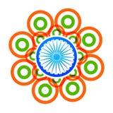 Vector creative indian flag design with circles Stock Photos