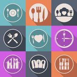 Vector creative kitchen icon food logo Stock Photography