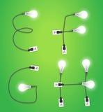 Vector creative light bulb idea alphabet design Royalty Free Stock Photos