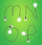 Vector creative light bulb idea alphabet design Royalty Free Stock Photography