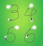 Vector creative light bulb idea alphabet design Royalty Free Stock Photo