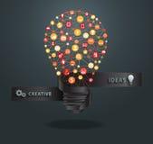 Vector creative light bulb idea Royalty Free Stock Images