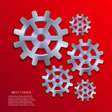 Vector creative mechanism icon background. Eps 10 Royalty Free Stock Photos