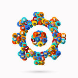 Vector creative mechanism icon background. Stock Photo