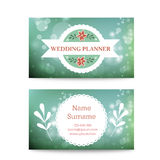 Vector creative mint business card template mock Royalty Free Stock Images