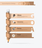 Vector creative pencil design with goals ideas concept. Creative pencil design with goals ideas concept, Vector illustration modern layout template Stock Images