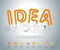 Vector creative pencil ideas concept design Stock Photography