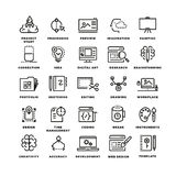 Vector creative process line icons Royalty Free Stock Image