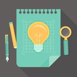 Vector creative project - icon in flat style Royalty Free Stock Photos