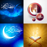 Vector creative set of ramadan festival background illustration Royalty Free Stock Images