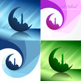 Vector creative set of ramadan festival background illustration Stock Photo