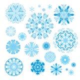 Vector Creative Snowflakes Set Royalty Free Stock Photos