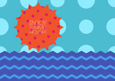Vector creative summer seamless background, sun, sky and sea wit Stock Photography