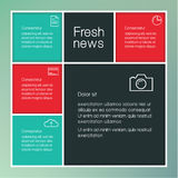 Vector creative template with place for your content. Colorfully Royalty Free Stock Photography