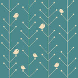 Vector creative vintage seamless branch trees Royalty Free Stock Image
