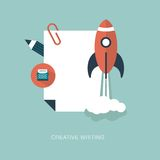 Vector creative writing concept illustration Stock Photography