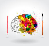 Vector creativity brain Royalty Free Stock Photography
