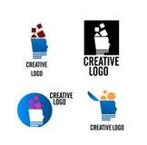 Vector creativo de la insignia de la compañía stock de ilustración