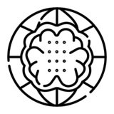 Vector creativo del icono del cerebro stock de ilustración