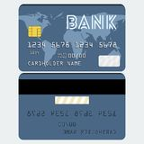 Vector credit card Stock Image