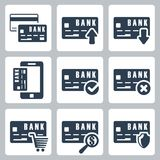 Vector credit card icons set Stock Image