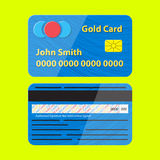Vector credit card illustration. Royalty Free Stock Images