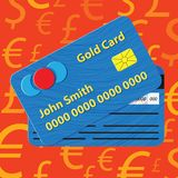 Vector credit card illustration. Royalty Free Stock Photo