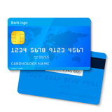 Vector credit card Royalty Free Stock Photography