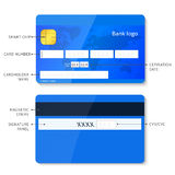 Vector credit card infographic Stock Image