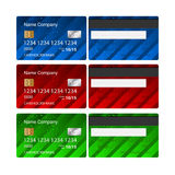 Vector Credit Card set. Business design template layout. Two sides Royalty Free Stock Image