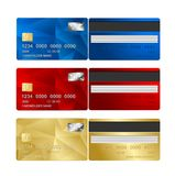 Vector Credit Card set two sides. Stock Photo