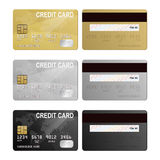 Vector credit card two sides Royalty Free Stock Photography
