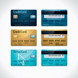 Vector credit cards Royalty Free Stock Photo