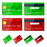 Vector credit cards design Royalty Free Stock Image