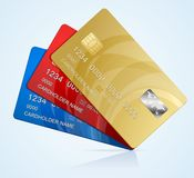 Vector Credit Cards  Royalty Free Stock Photos