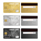 Vector credit cards, front and back view Royalty Free Stock Photo