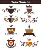 Vector Crests Set. This is a set of vector crests suitable for several projects. They are full editable and resizable Royalty Free Stock Images