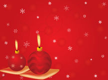 Vector cristmas candles. With red motif background Stock Photo